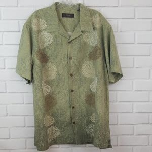 Tasso Elba Tropical Silk Short Sleeve Shirt